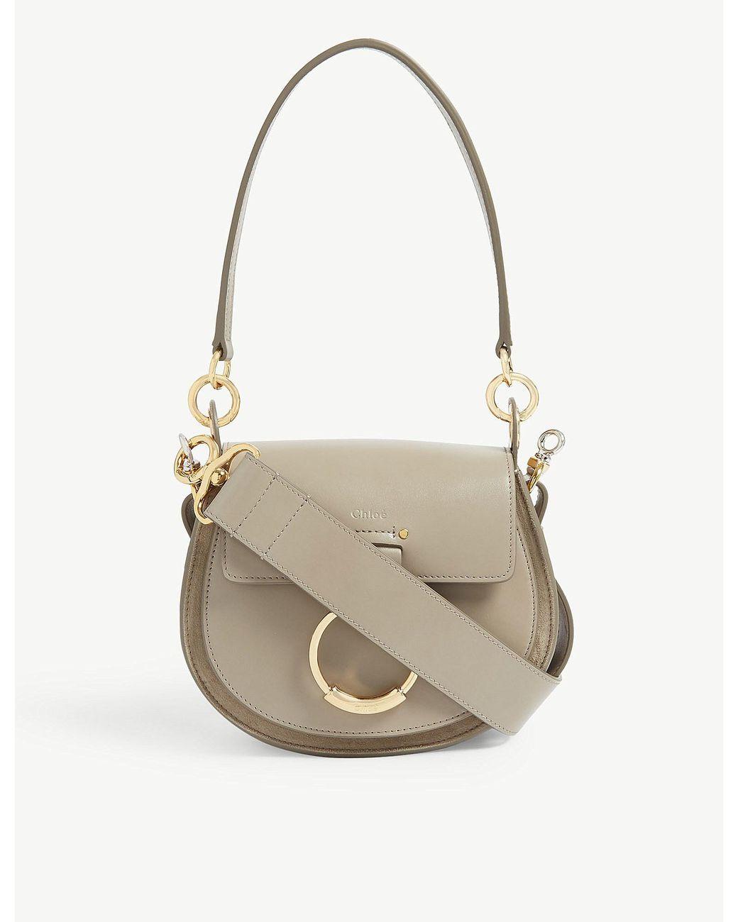 e0481e4279dc72 Long-Touch to Zoom. Chloé - Gray Tess Mini Leather Cross-body Bag ...