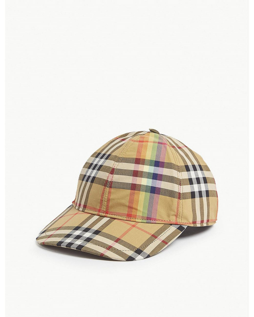 d7440988973 Burberry Vintage Check Wool Baseball Hat for Men - Save 36% - Lyst