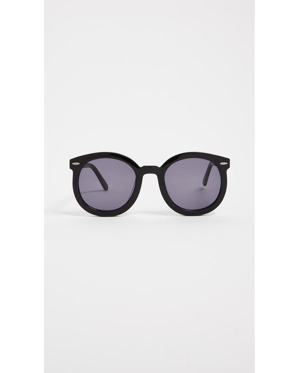 0d247adfd772 Karen Walker. Women s Black Alternative Fit Super Duper Strength Sunglasses