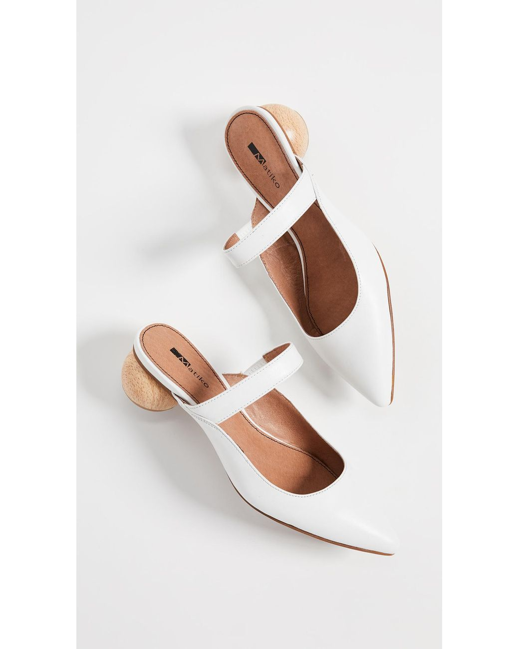 2d2f8657e2d Lyst - Matiko Virca Point Toe Mules in White