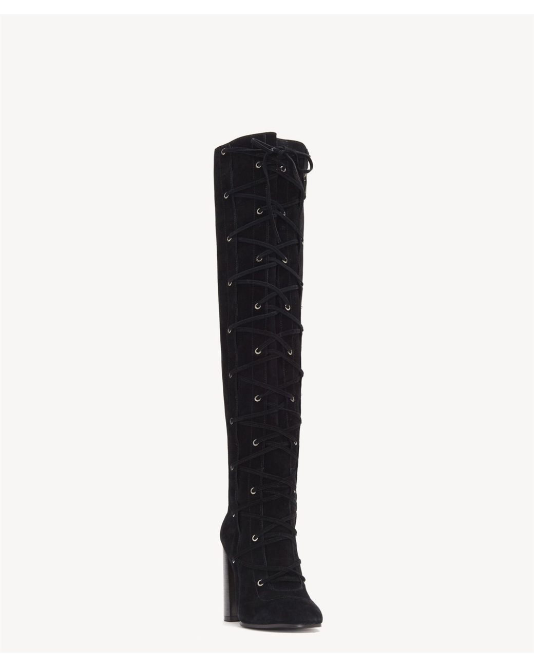 c29f4e7d060 Lyst - Vince Camuto Thanta Lace Up Tall Boot in Black