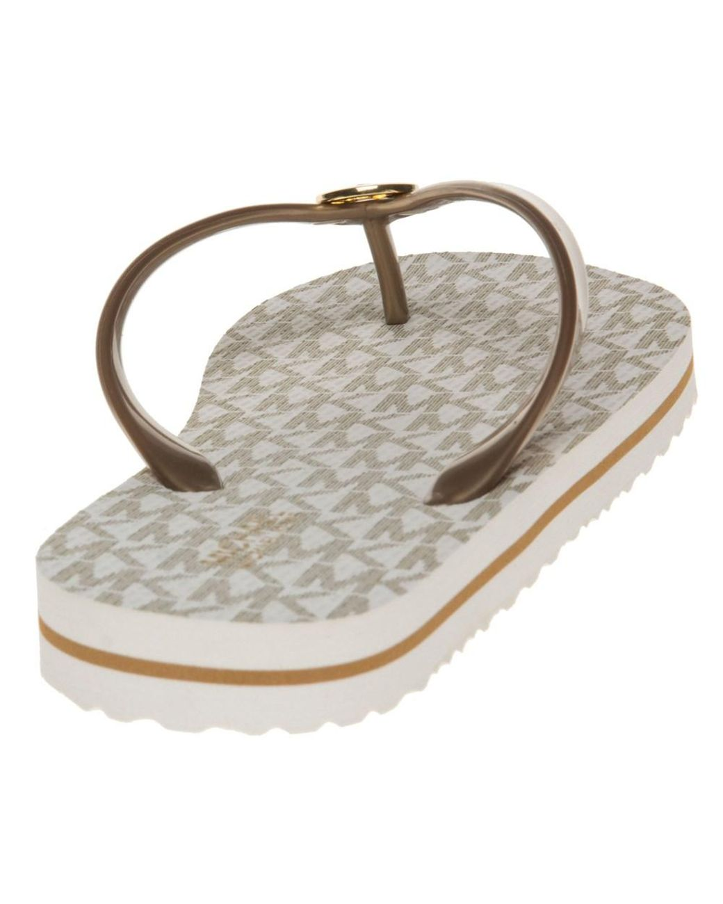 2ccd974e1c5 Michael Kors Mk Flip Flop Stripe Eva Sandals - Lyst