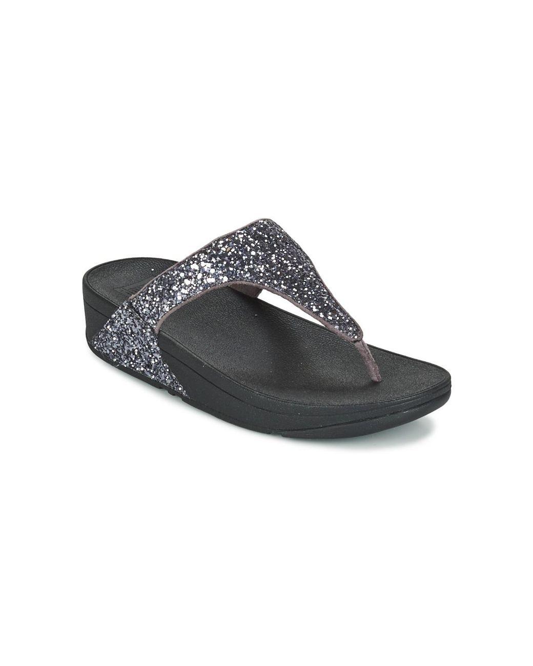 3811e0026 Fitflop Glitterball Toepost Women s Flip Flops   Sandals (shoes) In Silver  in Metallic - Save 9% - Lyst