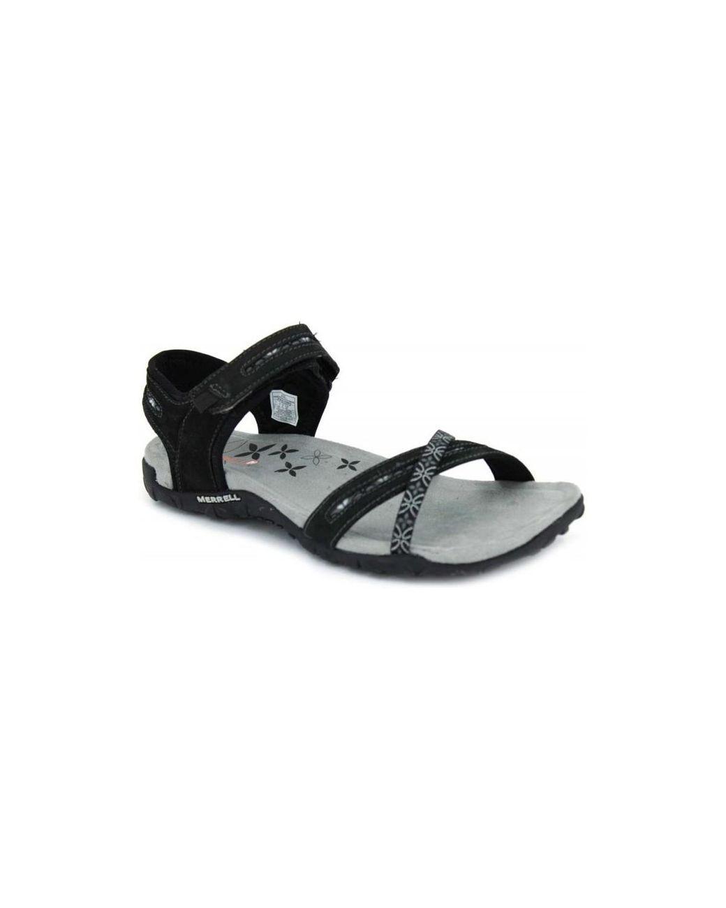 bd3d446063c7 Merrell Terran Cross Ii J55306 Women s Sandals In Black in Black - Lyst