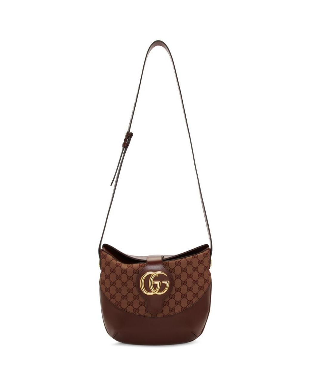 384d64a1142 Gucci Burgundy Medium GG Arli Bag in Brown - Lyst