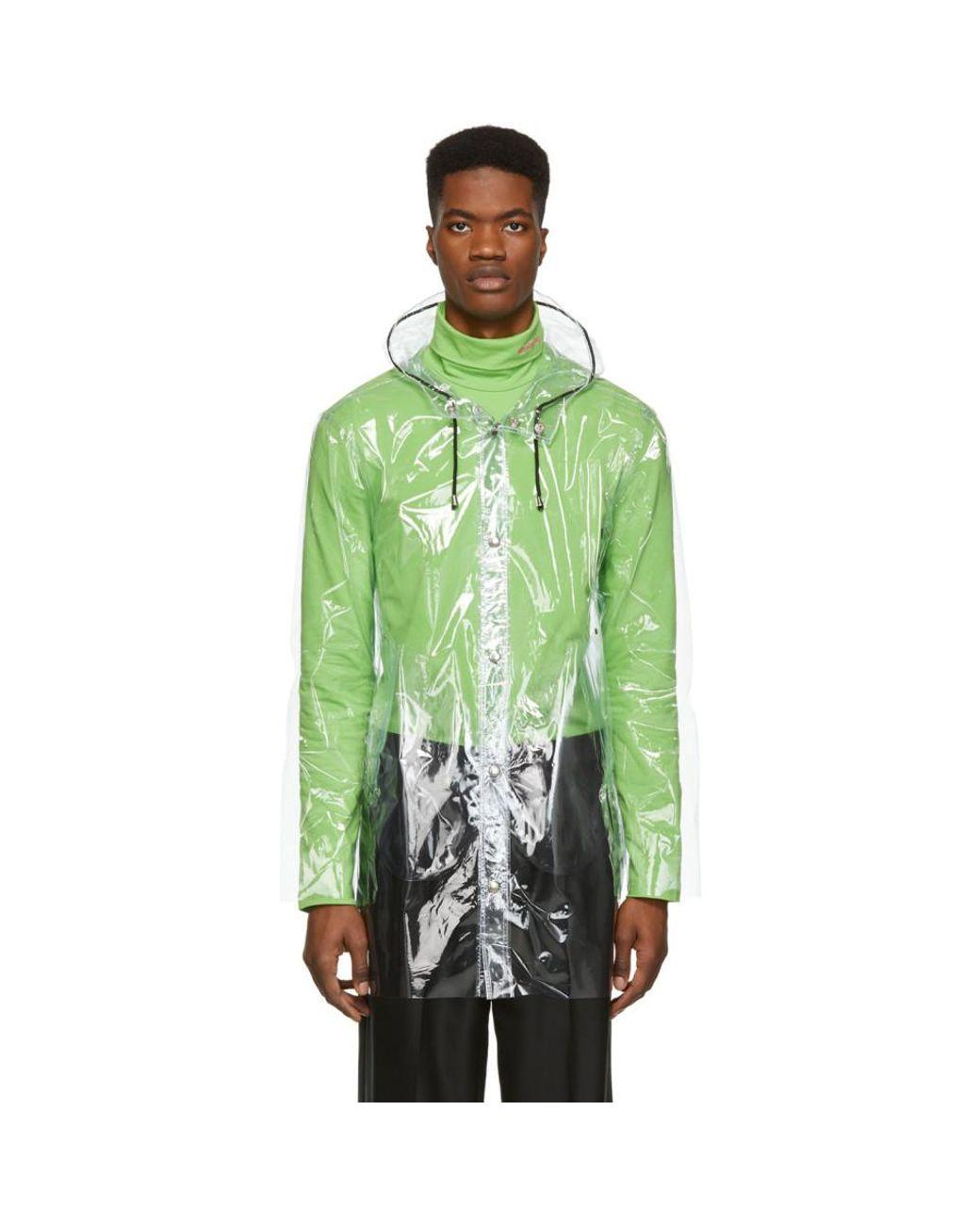 20b45702e Stutterheim Transparent Stockholm Raincoat in Green for Men - Lyst