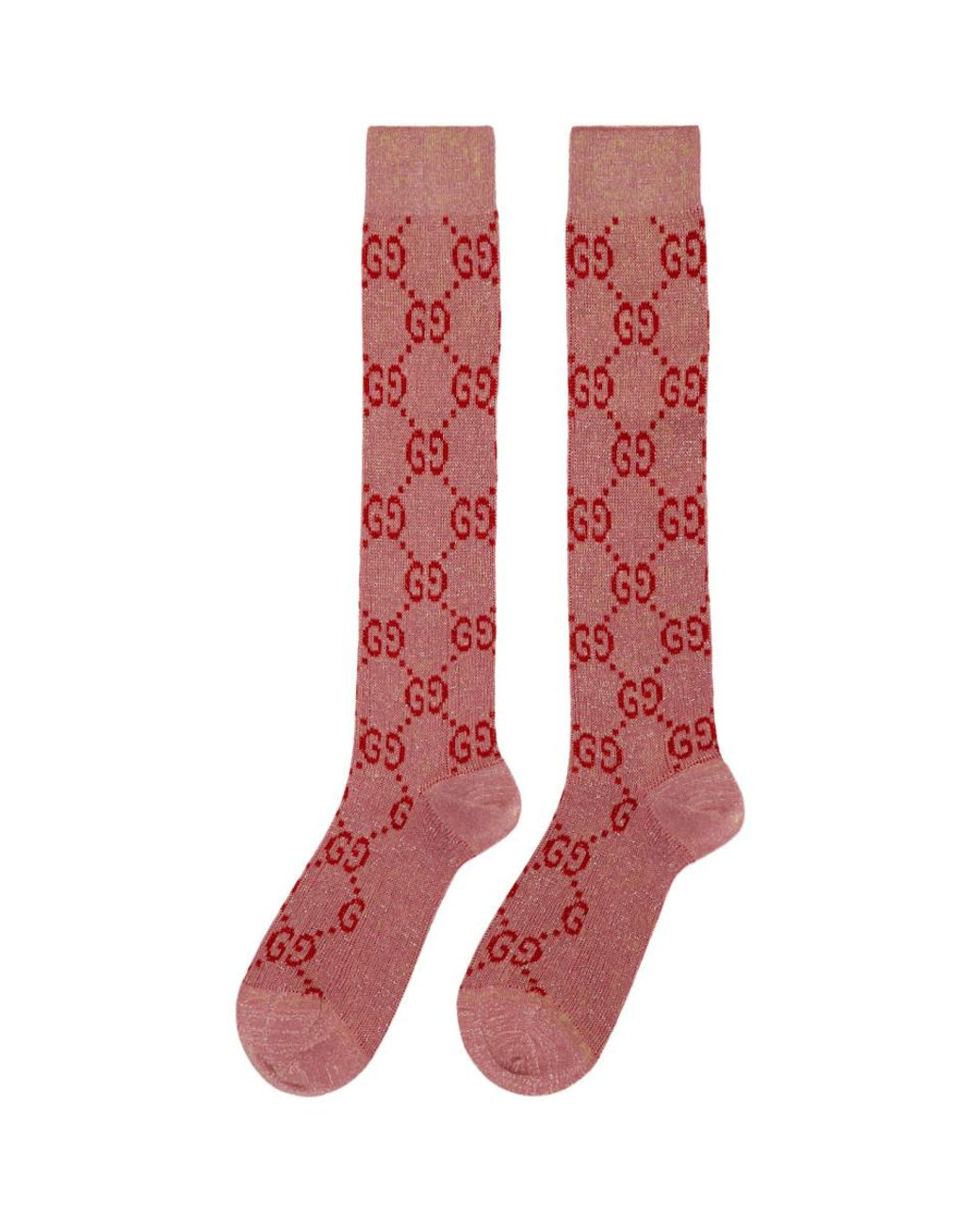 5cf1b958f Gucci Pink Crystal GG Socks in Pink - Lyst