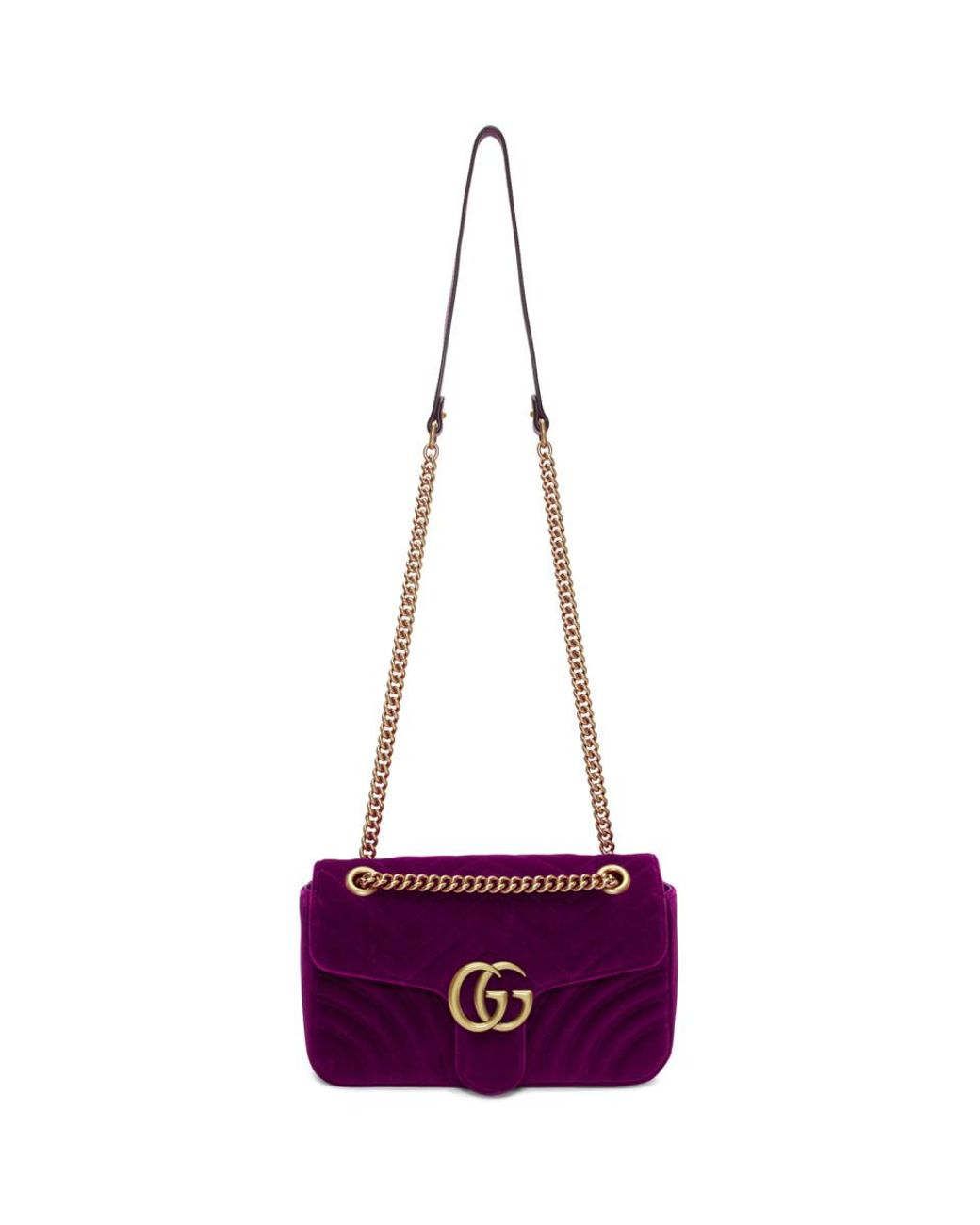 e21323316 Gucci Pink Small Velvet GG Marmont 2.0 Bag - Lyst