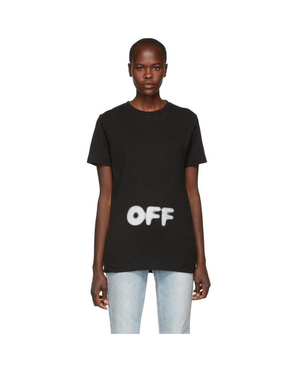 ef462175a431 Off-White c o Virgil Abloh Black Kidmograph T-shirt in Black - Lyst