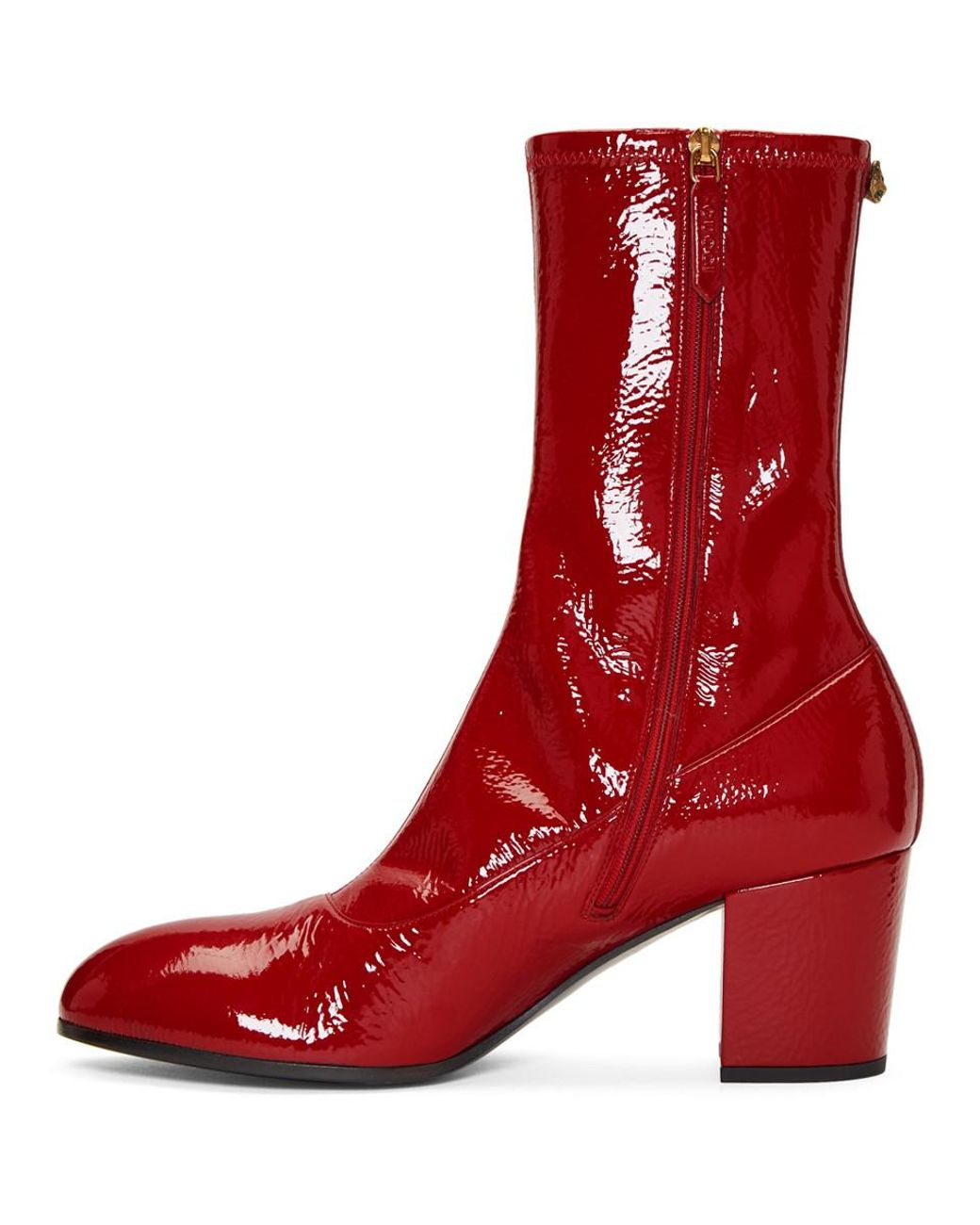 01cb28cb34e Lyst - Gucci Red Patent Printyl Boots in Red for Men - Save 28%