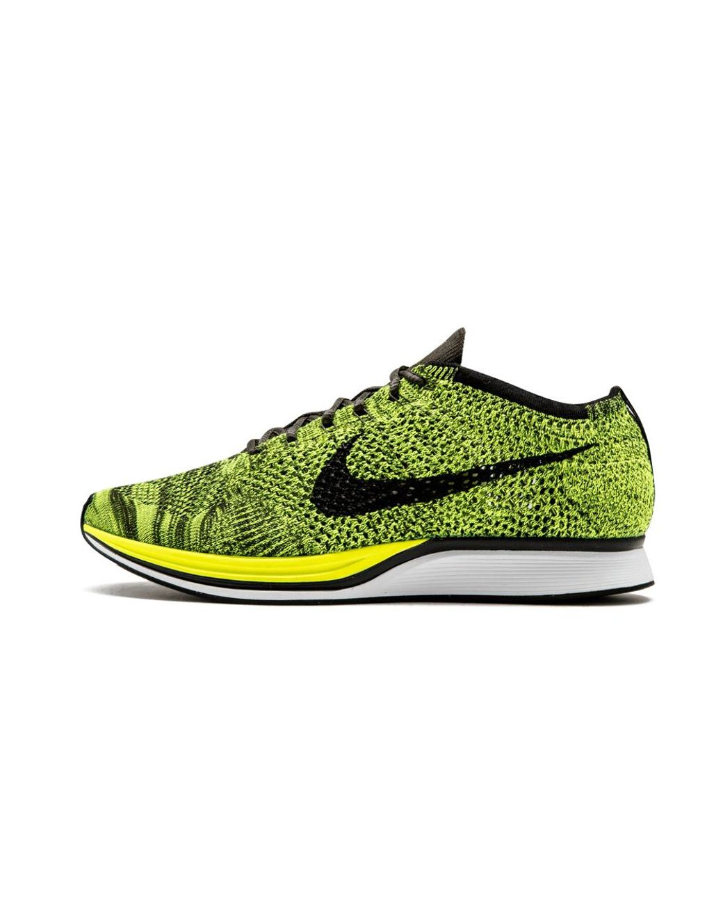 90d374191c5c0 Lyst - Nike Flyknit Racer in Yellow for Men - Save 14%