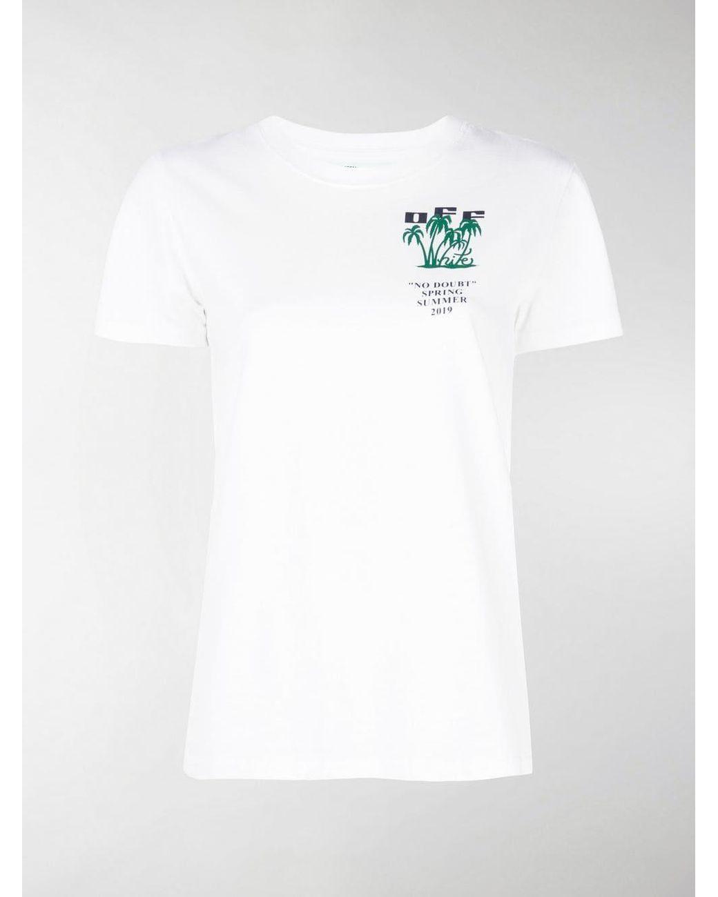 422ed23472d5 Off-White c o Virgil Abloh Graphic Print T-shirt in White - Lyst
