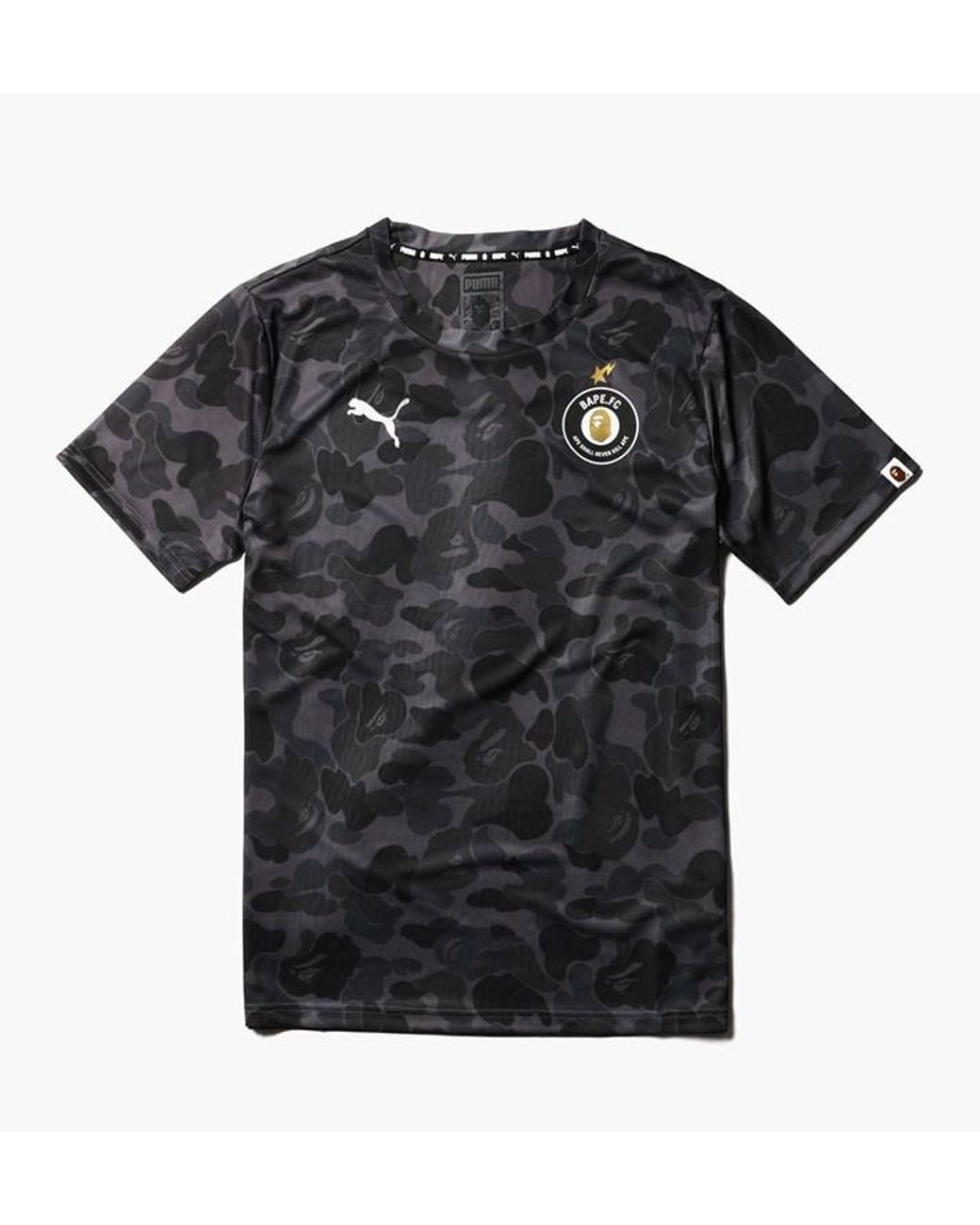 1809d7c6 A Bathing Ape X Puma Full Abc Camo Tee Black in Black for Men - Lyst