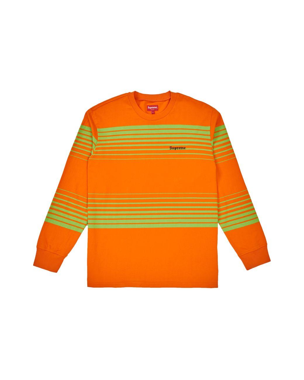 47ec036b5b32 Lyst - Supreme Fade Stripe L/s Top Orange in Orange for Men