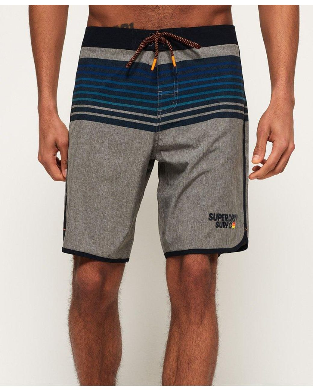 27660e30b9 Superdry Upstate Retro Boardshorts in Gray for Men - Save 49% - Lyst