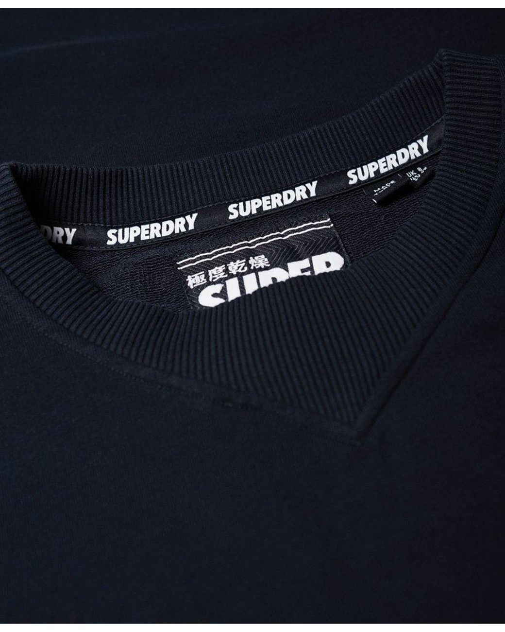 2d76ee8291b480 Superdry Georgia Short Sleeve Sweat Dress in Blue - Lyst