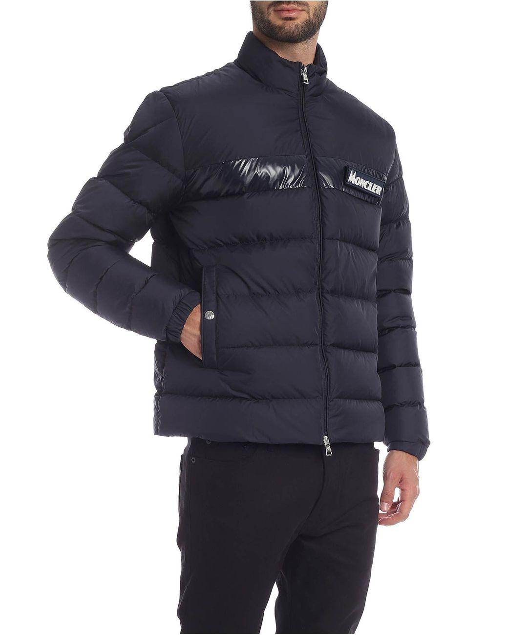 083a1b6a3 Moncler Servieres Down Jacket In Dark Blue in Blue for Men - Lyst