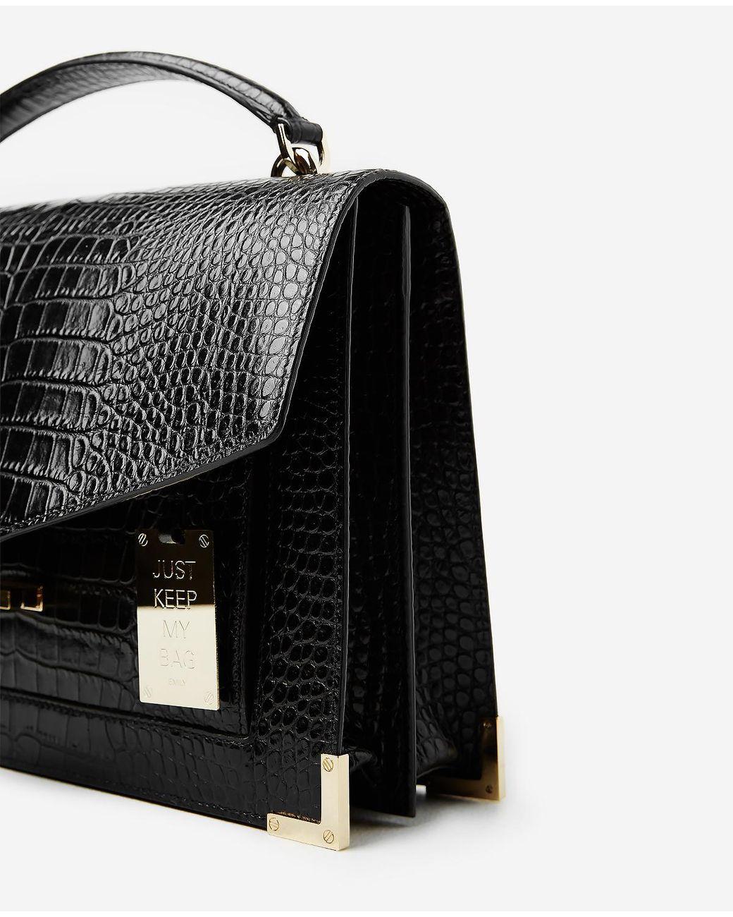 d2a6e3a8e9e4 The Kooples Maxi Emily Bag In Black Mock Croc in Black - Lyst