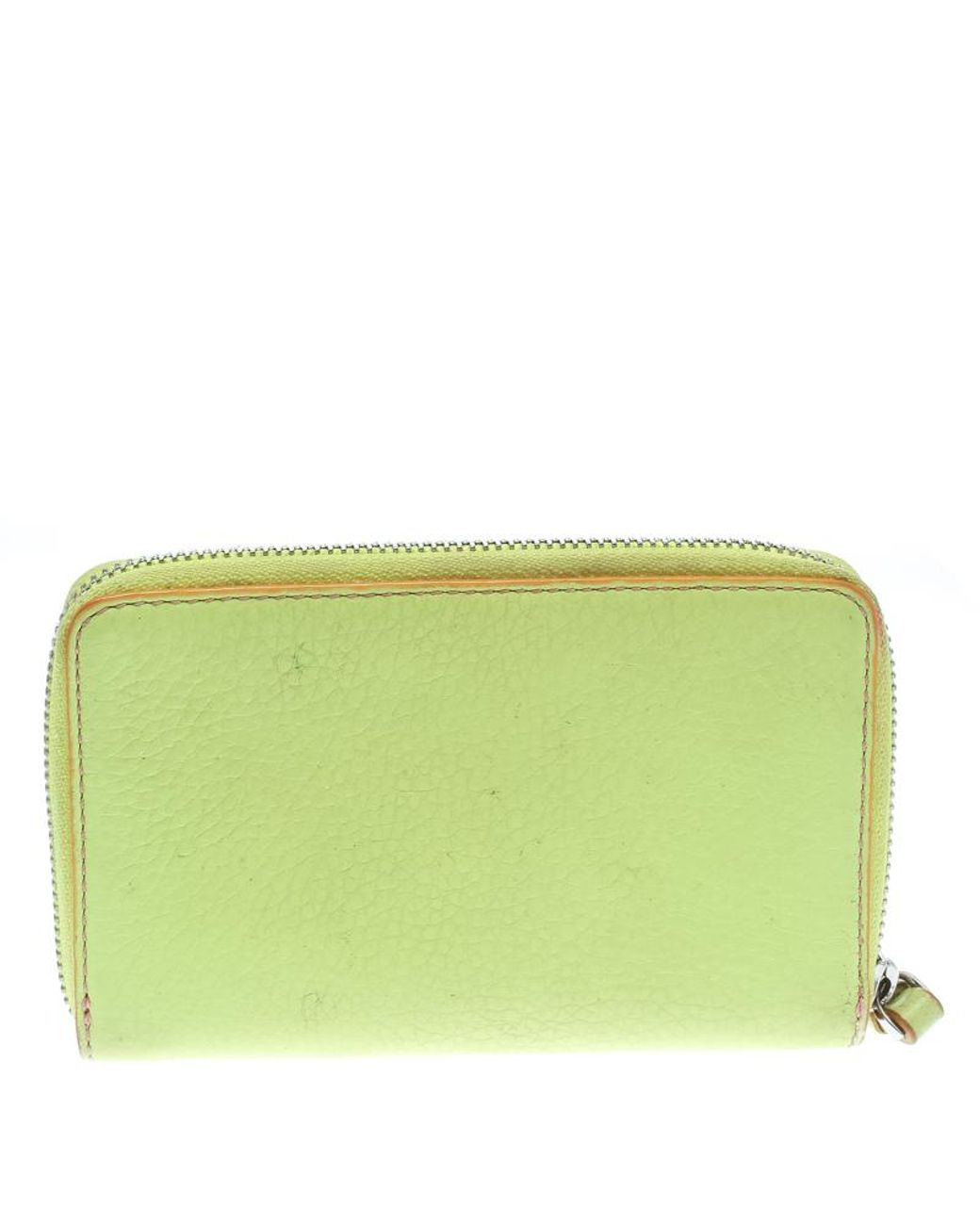 8cfef46a6e20 Marc By Marc Jacobs Lime Green/peach Pink Leather Zip Around Wallet in  Green - Lyst