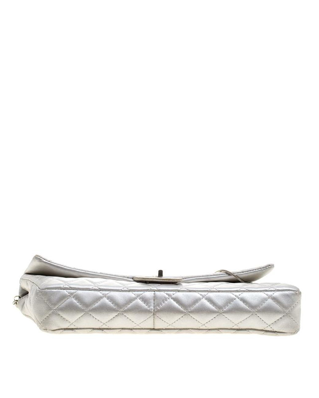 b868495f4d11 Chanel Silver Quilted Leather Reissue Chain Clutch in Metallic - Lyst