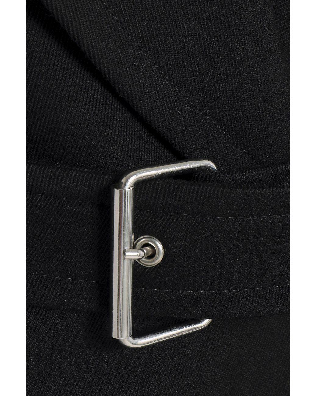 b4a011af7 Vanessa Bruno Belted Twill Jacket Black in Black - Lyst
