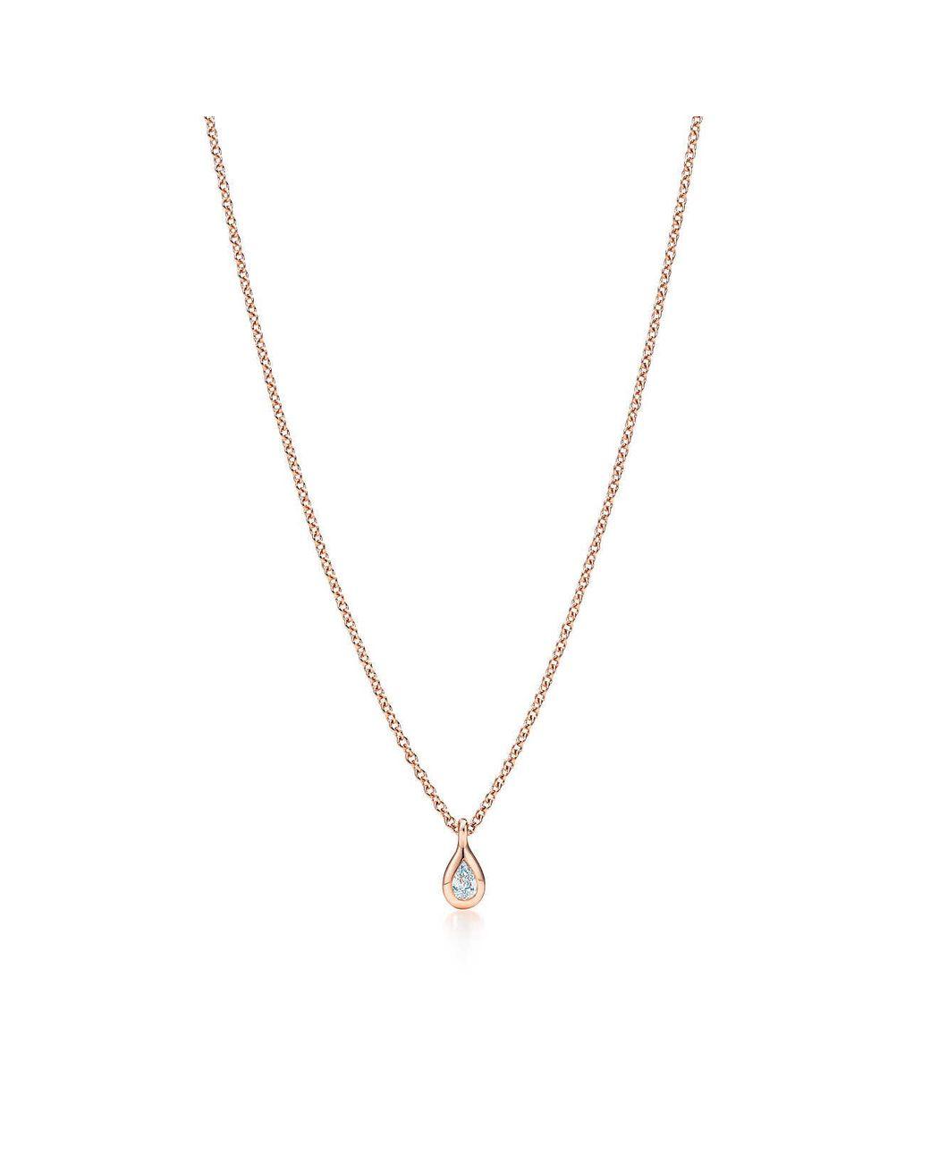 cdcb2df3835d Tiffany   Co. Elsa Peretti. Diamonds By The Yard. Pendant In 18k Rose Gold  in Metallic - Lyst