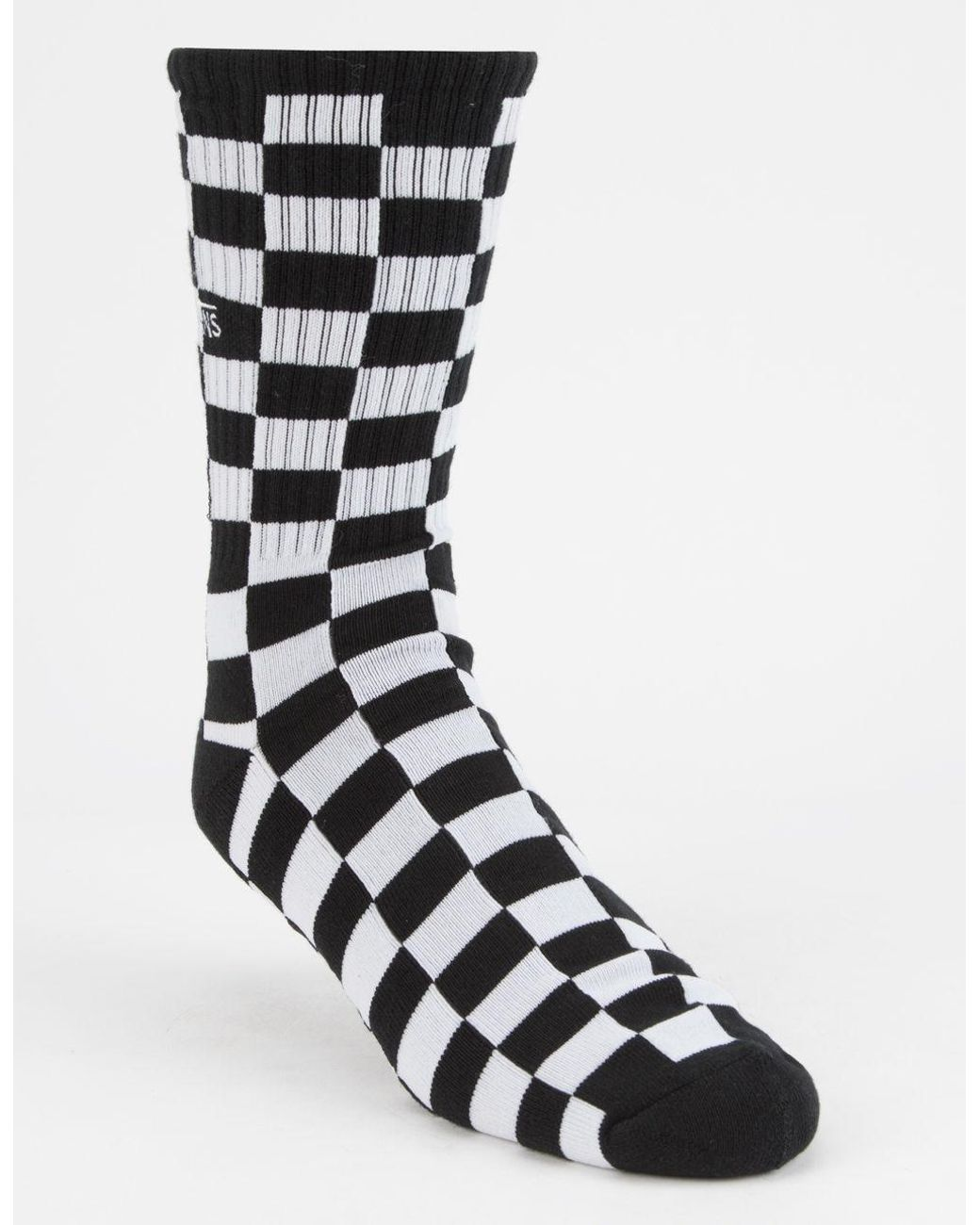 b3b3fcfb7d3c Lyst - Vans Checkerboard 1 Pack Socks In Black Vn0a3h3ohu01 in Black ...