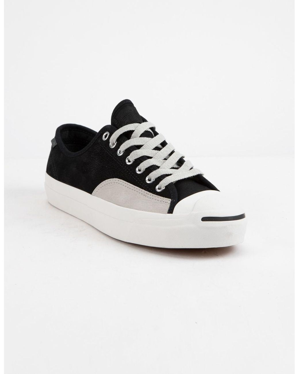 52460a0790fa Lyst - Converse Jack Purcell Pro Leather Low Top Shoes in Black