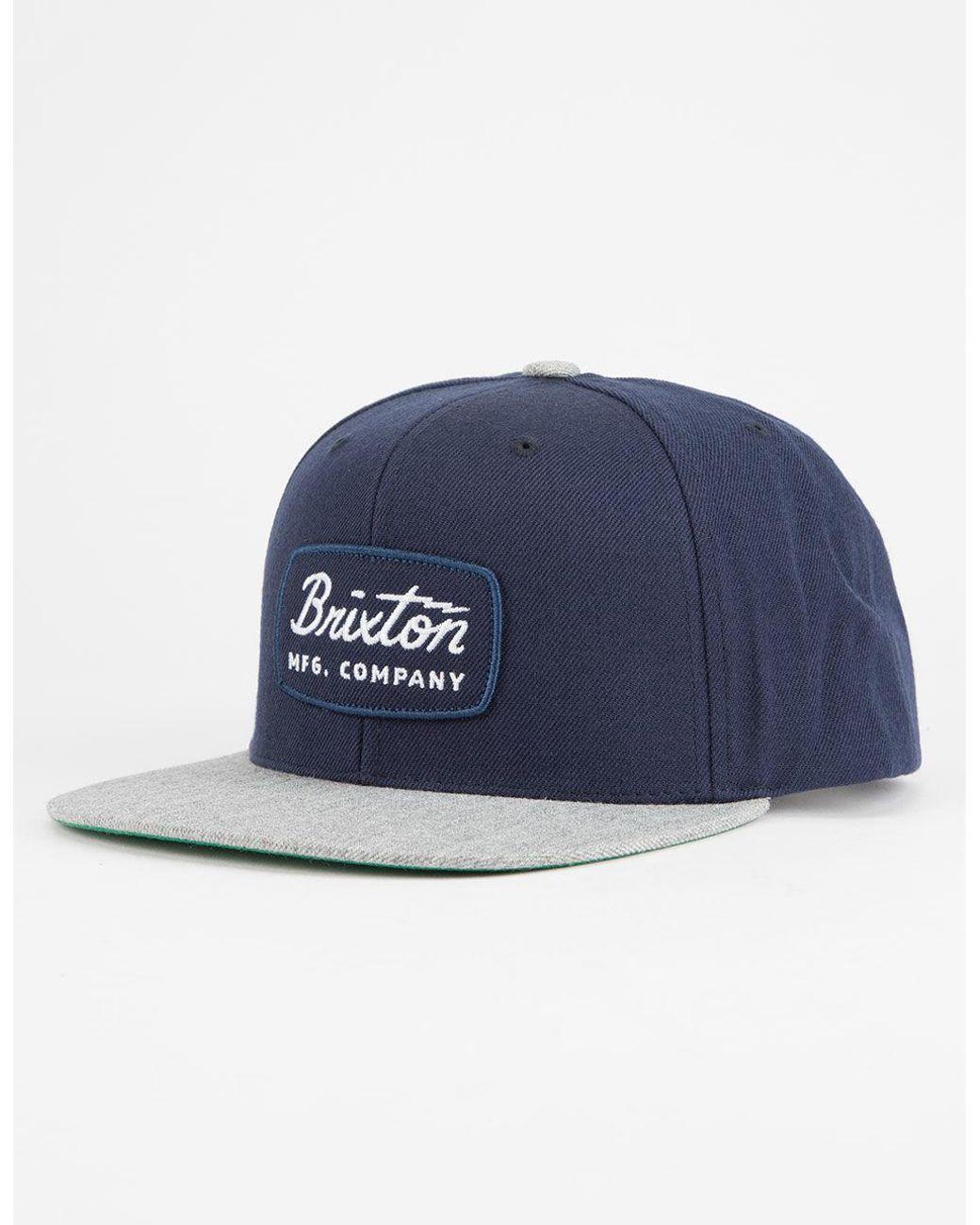 b86abda10ddcb Brixton Jolt Navy   Grey Mens Snapback Hat in Blue for Men - Lyst