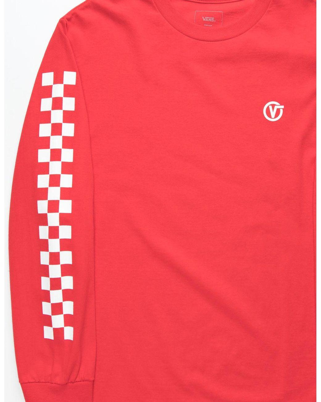 c02067d6324e5a Lyst - Vans Classic Circle V Mens T-shirt in Red for Men