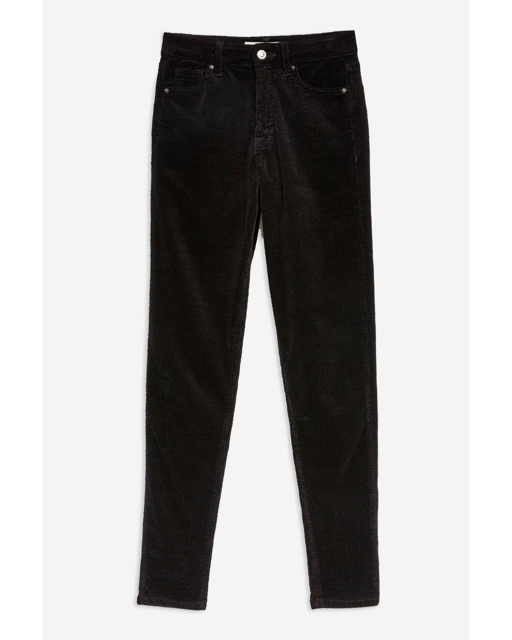 859c4f18fd97 Lyst - TOPSHOP Black Corduroy Jamie Jeans in Black - Save 30%