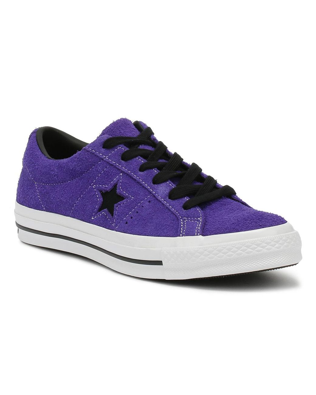 7169be345dd15b Lyst - Converse One Star Ox Mens Court Purple Trainers in Purple for Men