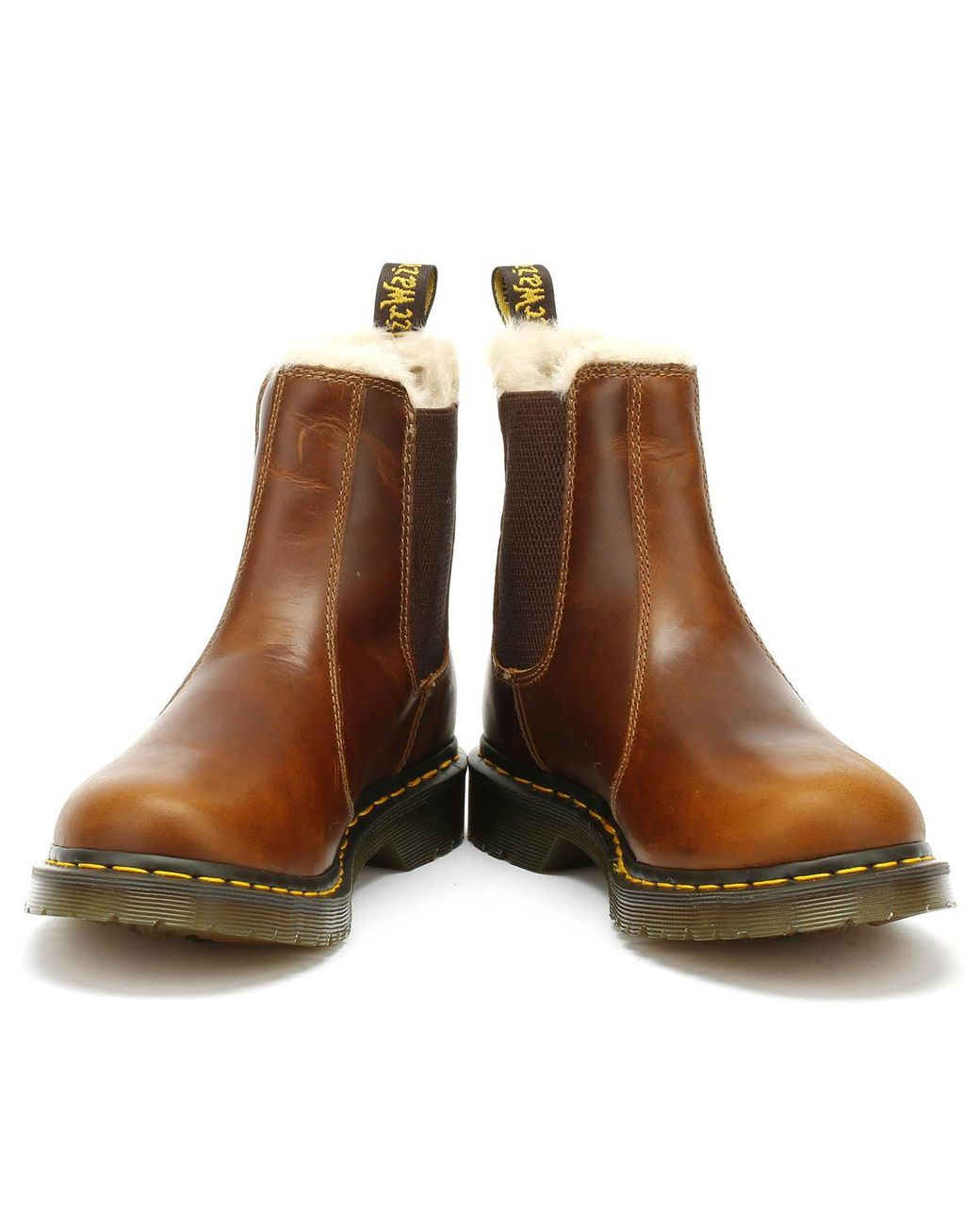 acded2d5bf79 Dr. Martens Dr. Martens 2976 Leonore Womens Brown Butterscotch Boots in  Brown - Lyst