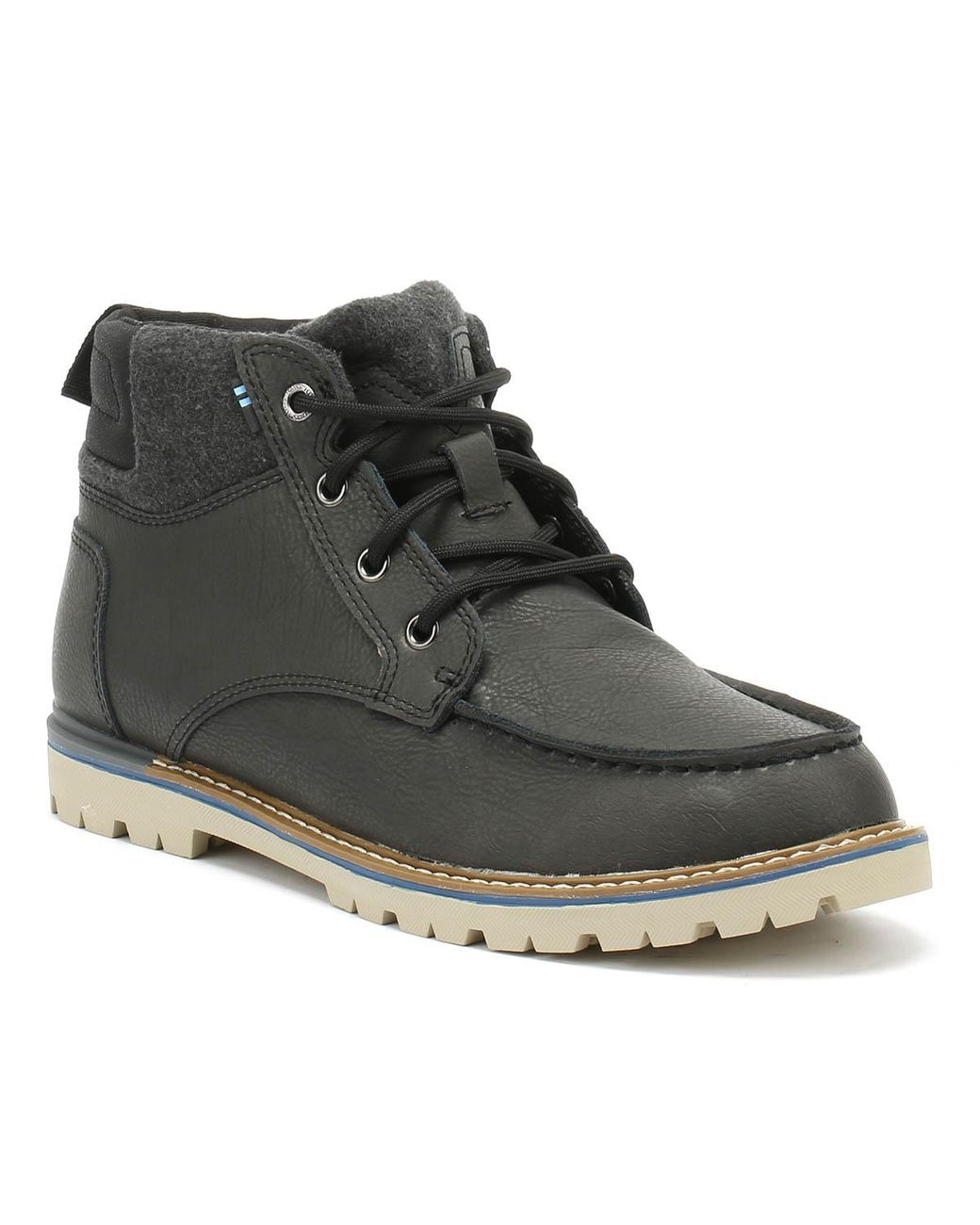 c8f55e9aaaa TOMS Hawthorne Mens Forged Iron Leather Boots in Gray for Men - Lyst