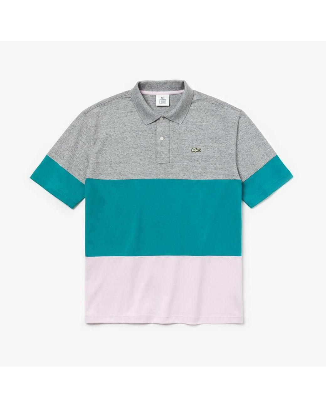 07a61a7718 Lacoste Live Men's Polo Shirt Loose Fit In Cotton Color Block in ...