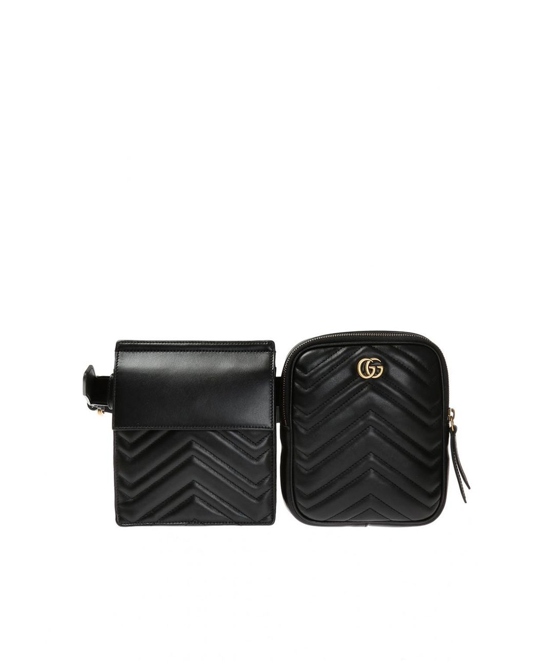 ac3a8a3174d99 Gucci Two-pouch Belt Bag in Black for Men - Lyst