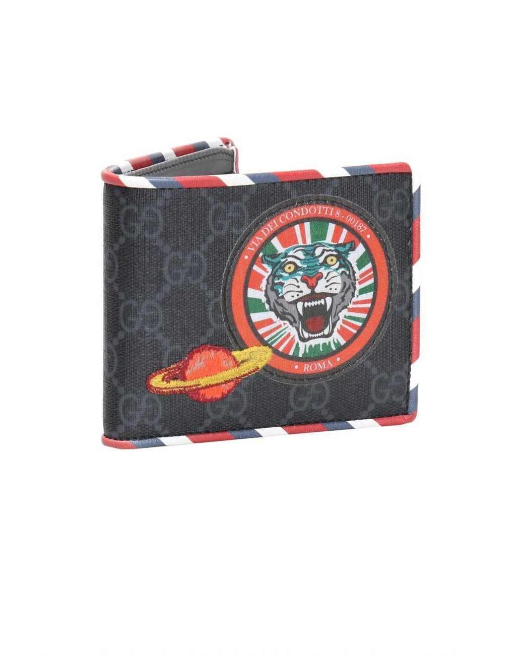 5d39c696e7d Gucci  GG Supreme  Canvas Bi-fold Wallet for Men - Save 18% - Lyst