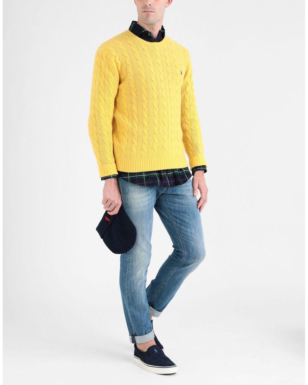 Pullover Lauren Juglzvpsmq En Polo Jaune Homme Pour Lyst Coloris Ralph UzpGLSMqV