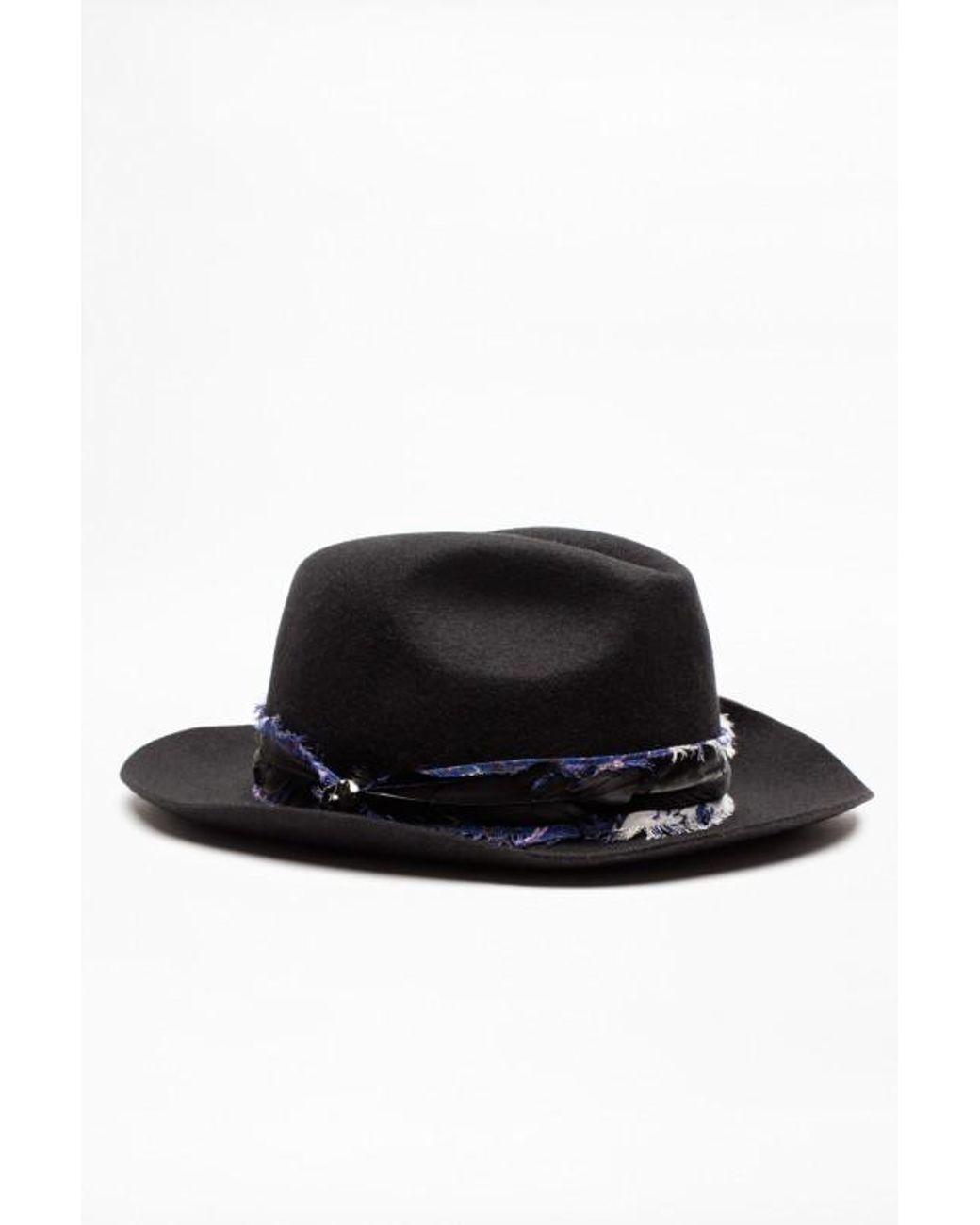 e0fb1ef0d059c Chapeau alabama foulard Zadig & Voltaire en coloris Noir - 20 % de  réduction - Lyst