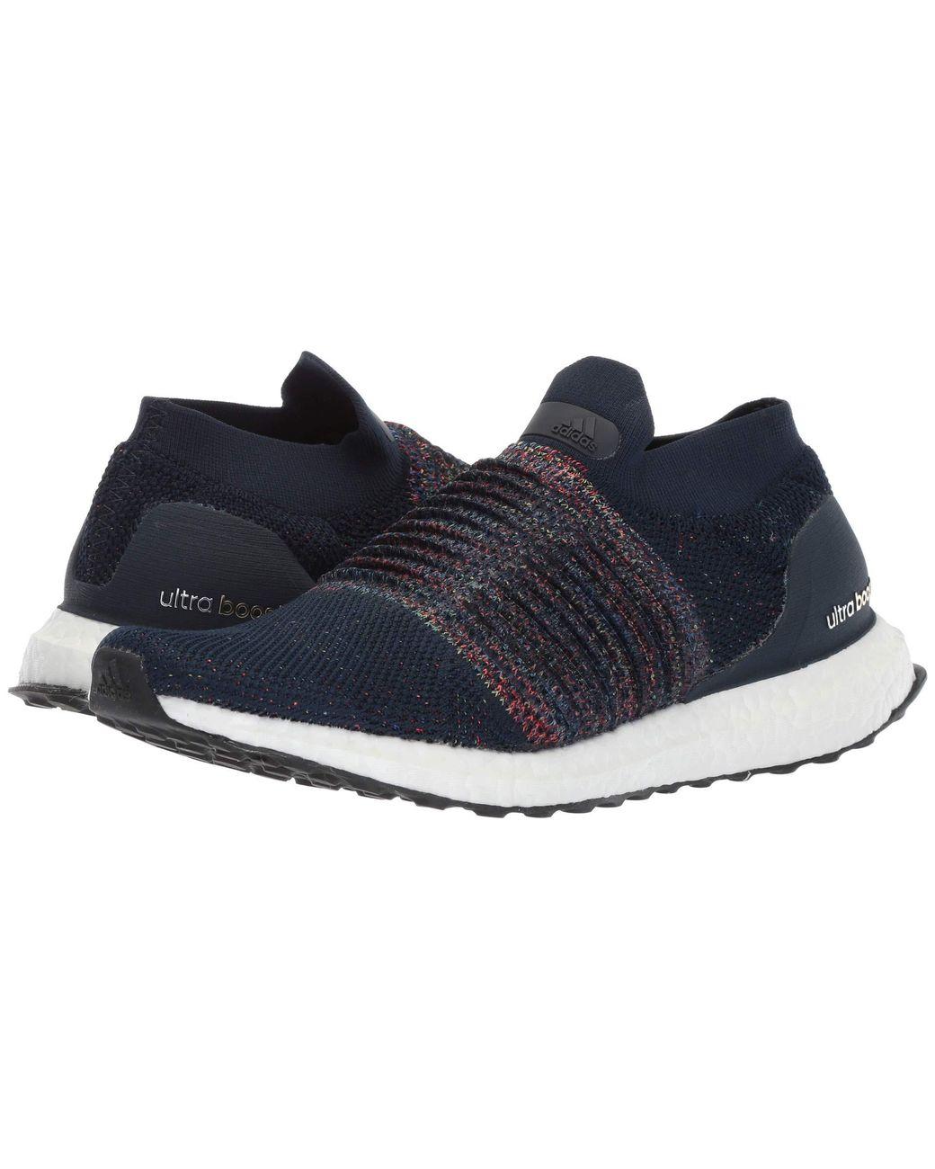 1d5b7eaf37b51 Lyst - adidas Originals Ultraboost Laceless (collegiate Navy white black) Men s  Running Shoes in Blue for Men
