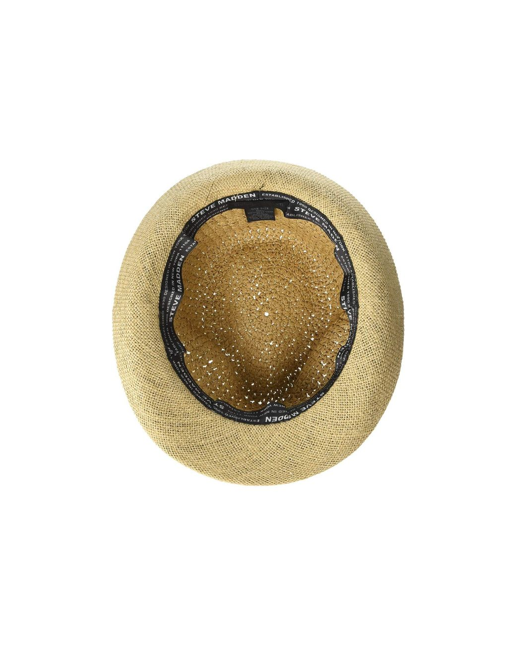 80ec3d2a94477f Steve Madden Paper Crochet & Jute Short Brim Fedora With Two Tone Band in  Blue - Save 4% - Lyst