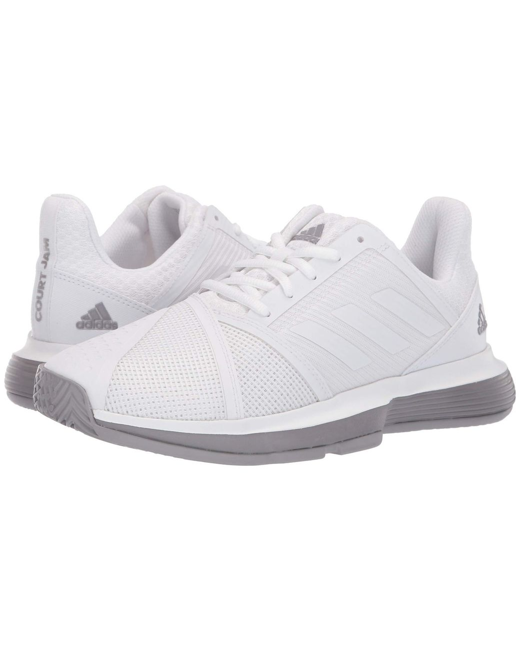 38258379b0835 adidas. Courtjam Bounce (raw White footwear White matte Silver) Women s  Shoes
