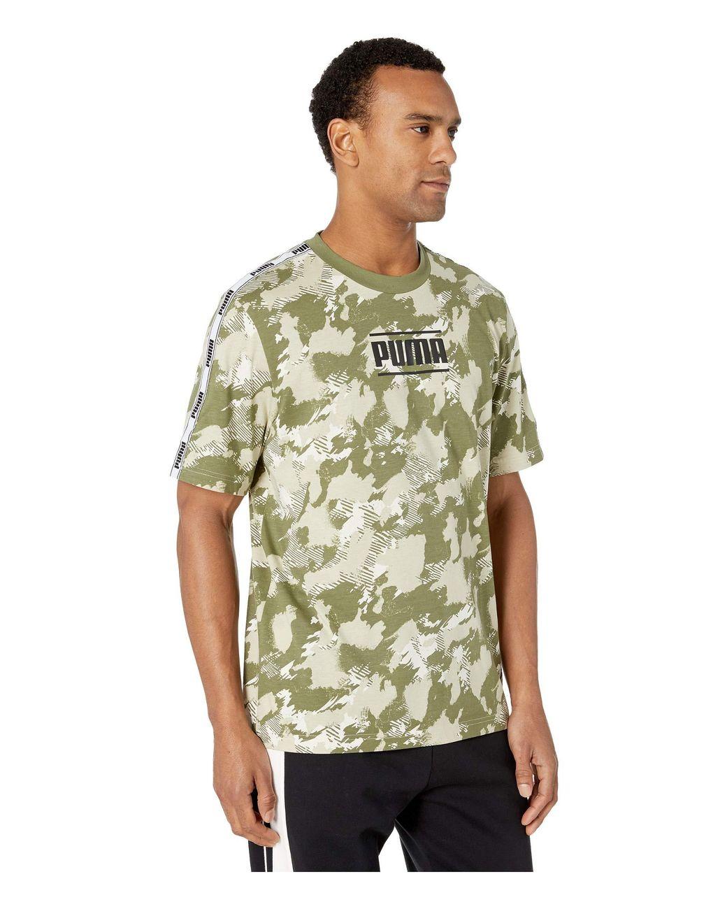 173d78a6423 Lyst - PUMA Camo Pack Aop Tee (indigo Bunting Aop) Men s T Shirt in Green  for Men - Save 3%