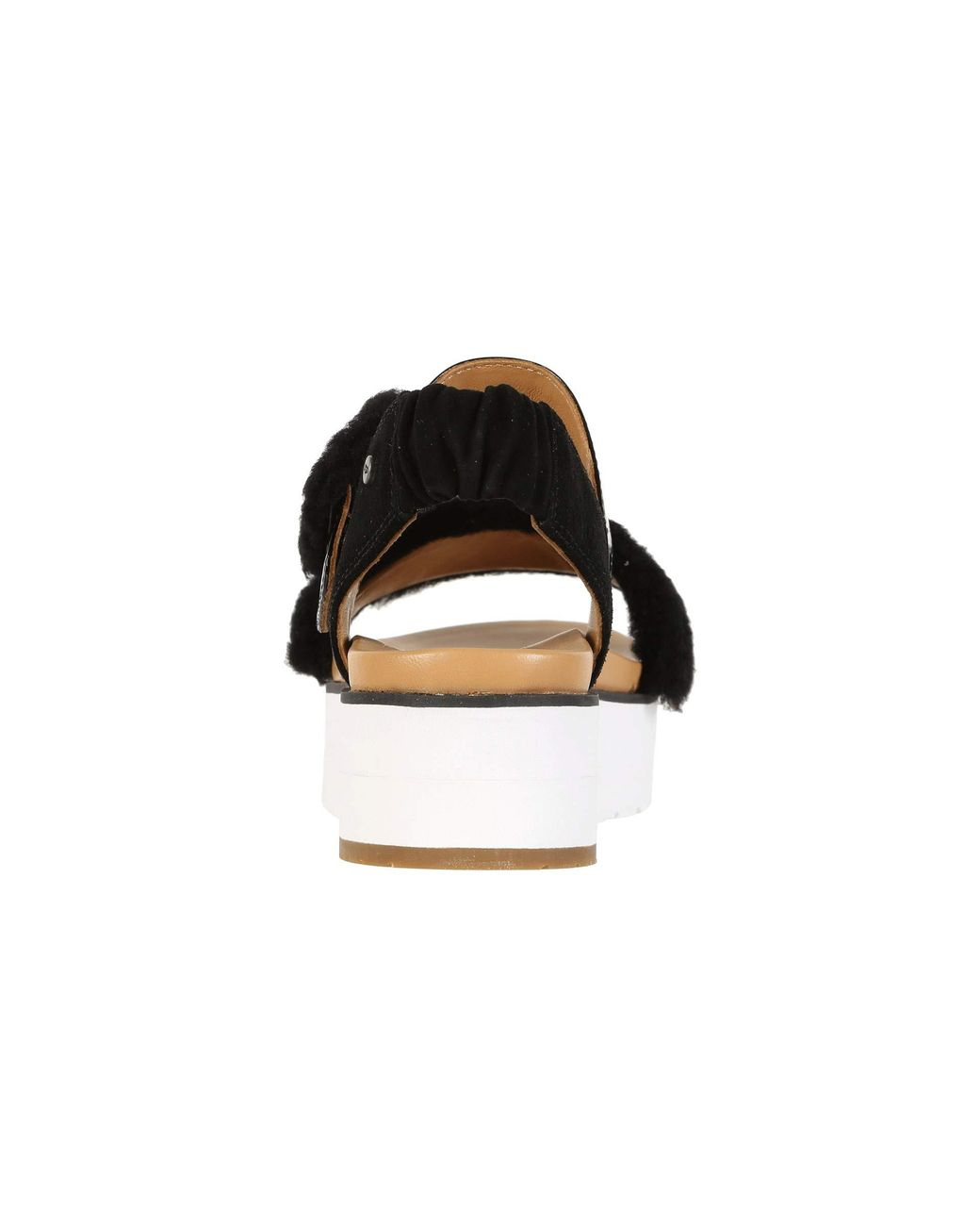 9d4e97a44b UGG Le Fluff (jasmine) Women's Sandals in Black - Lyst