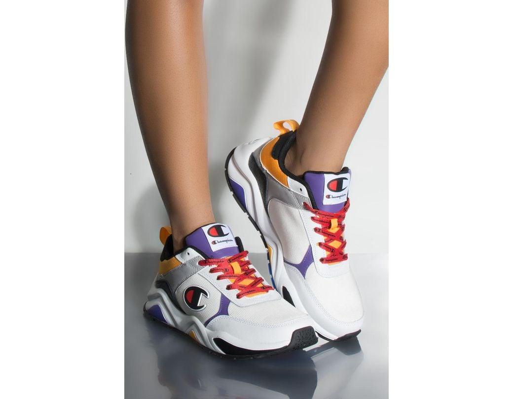 ed01d0e2dc0f Lyst - Champion 93 Eighteen Block Sneaker In White Multi in White ...