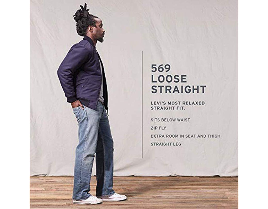 00d5ca1a4f517f Levi's 569 Loose Straight-leg Jean for Men - Lyst
