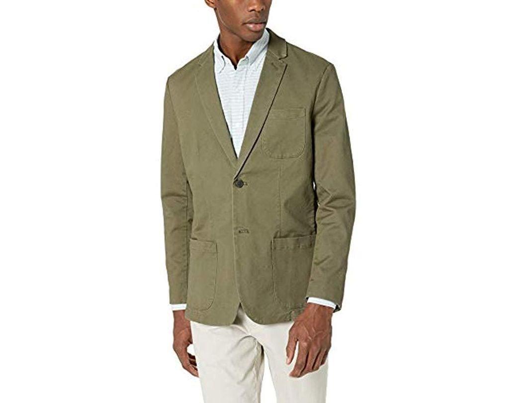 Goodthreads Mens Standard-fit Stretch Twill Blazer Brand