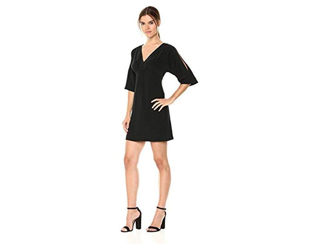 c059282f723 Lyst - Trina Turk Trina Sarai Split Sleeve Dress in Black