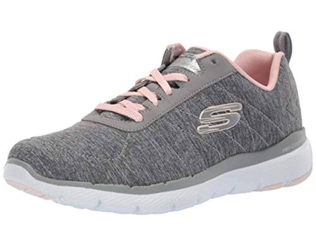 b5b25bdbc10b Lyst - Skechers Flex Appeal 3.0 Insiders Sneaker in Gray - Save 28%