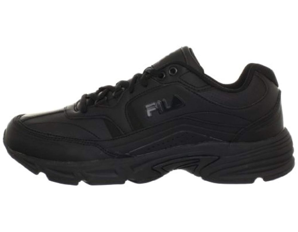 ff24933e Men's Black Memory Workshift Slip Resistant Work Shoe